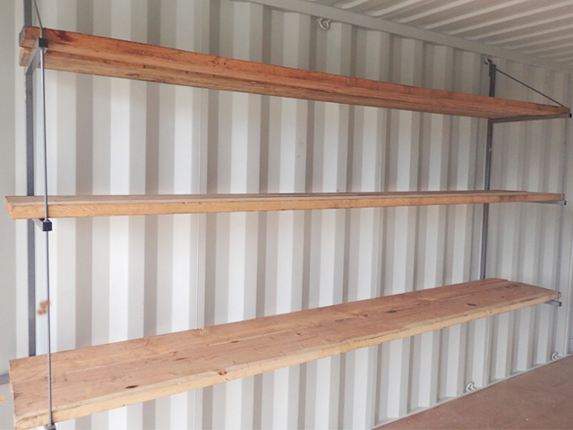 shipping container shelving